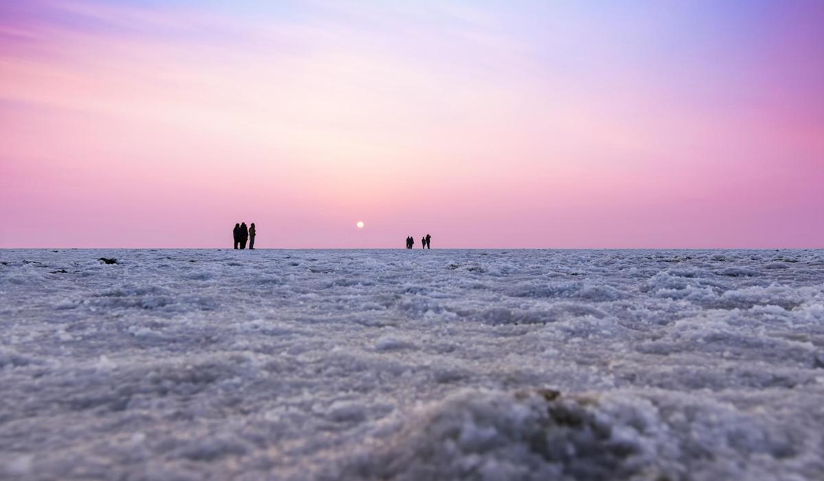 White salt desert in Kutch